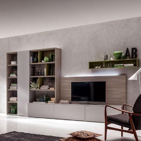 Ultramodern minimalist 39 hugh 39 tv unit by santa lucia nel for Minimal home mobili