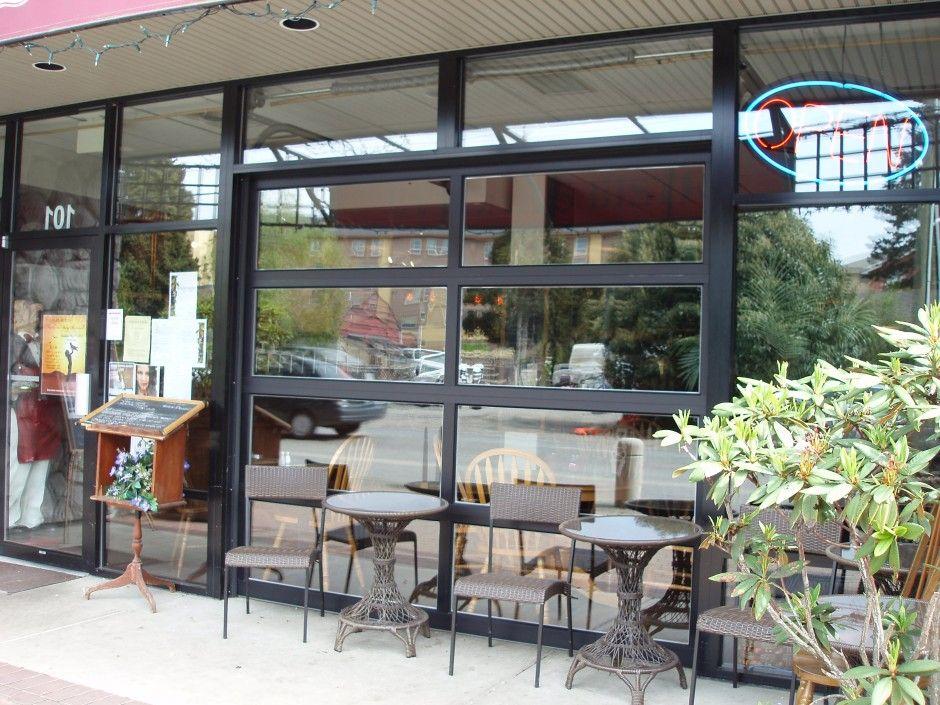 aluminum full view glass garage doors on restaurant | Overhead Doors and Gates | Harbour Door & aluminum full view glass garage doors on restaurant | Overhead Doors ...
