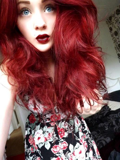 Red Blue Dyed Hair Pretty Blue And Red Hair Scene Hair Hair