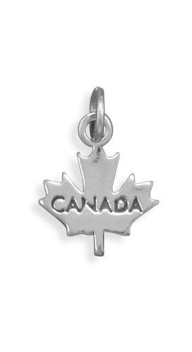 071c708df Sterling silver maple leaf charm with