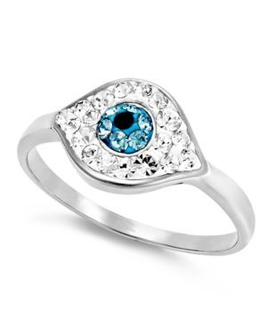 Crystal Evil Eye Ring
