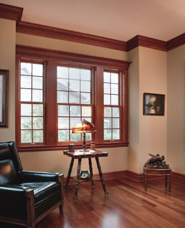The stained wood trim stays what colors will work with it for How to paint wood windows interior