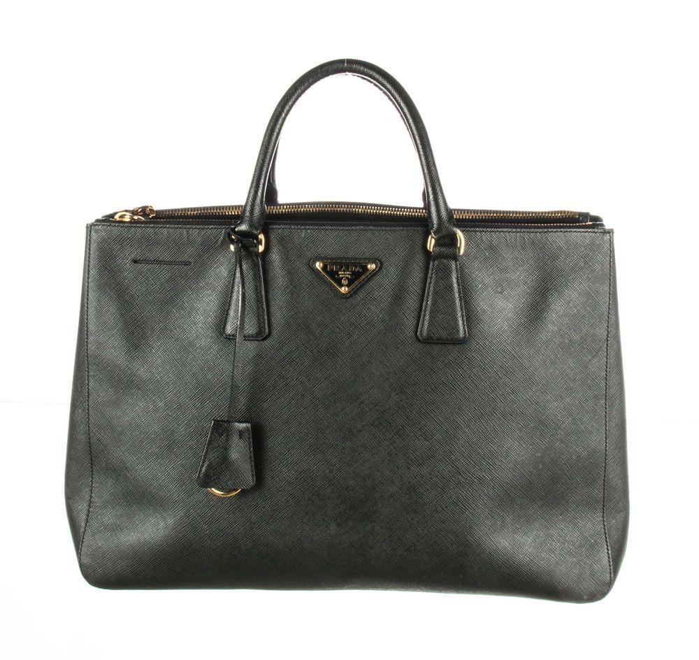 d6f37b1a5959 PRADA Smeraldo Green Saffiano Galleria Double Zip Tote Bag #fashion  #carrying #leatherhandbag #leather #gucci