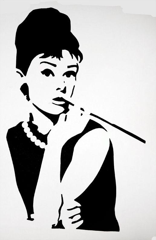 Audrey Hepburn Stencil by purplepoisonlily.deviantart.com ...