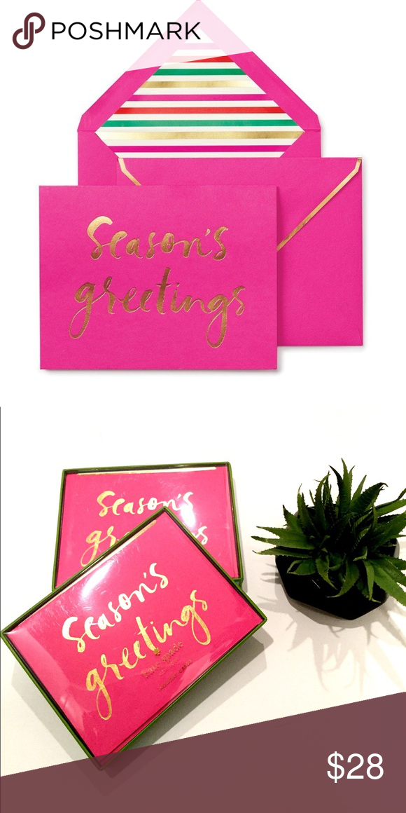 Nwts kate spade seasons greetings gift cards spread seasons nwts kate spade seasons greetings gift cards spread seasons greetings and yuletide cheer with these festive holiday cards complete with fancy lined m4hsunfo