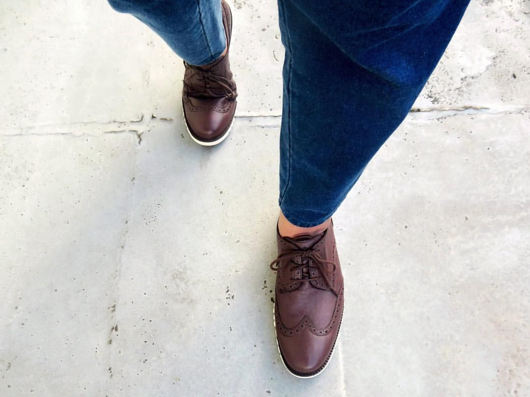 Cole Haan Zerogrand DC Wng S.O Oxford Chestnut-Ivory