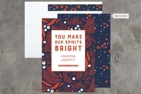Business Corporate Holiday Cards Minted Corporate Holiday Cards