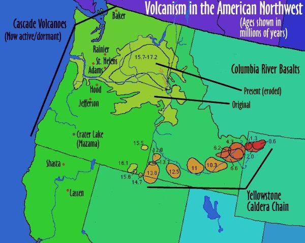 Idaho Yellowstone Volcano Map Earthquake Swarm In Challis Id In