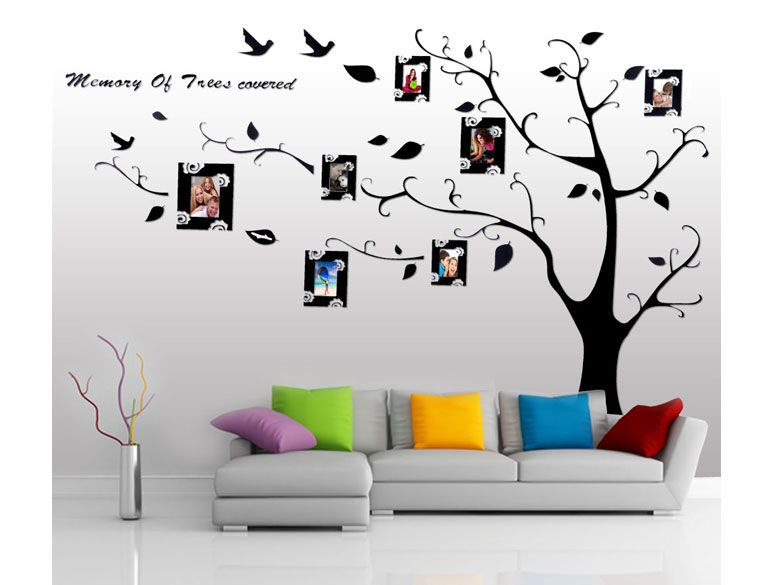 buy luxo family tree photo frame removable wall sticker online