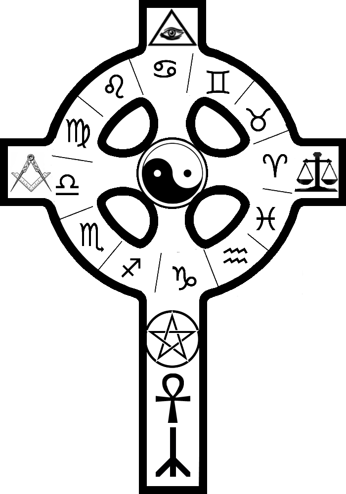Ancient Occult Symbols Kabbalah Theosophy Or Hermetic Cross