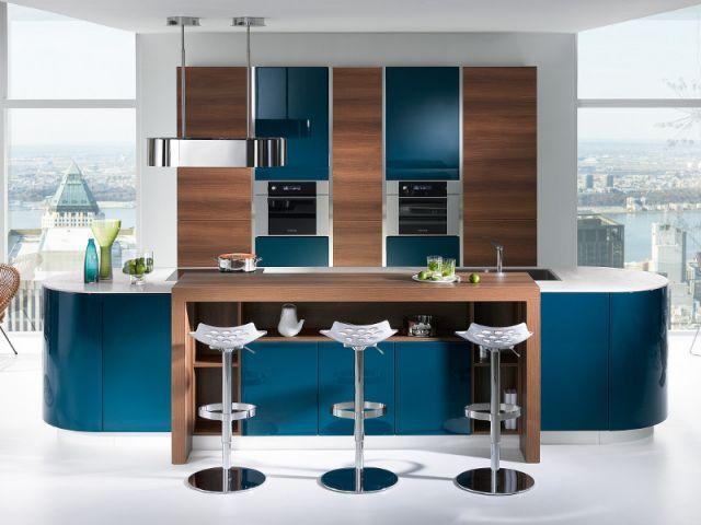 Design interieur for Cuisine bleu bois