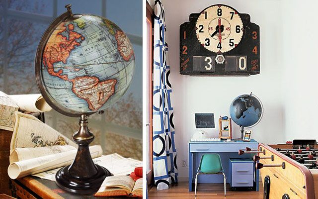 el globo terraqueo en la decoracin de interiores
