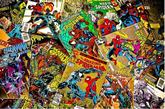 spiderman-pile-comic-books.jpg   Comic book superheroes, Comic ...
