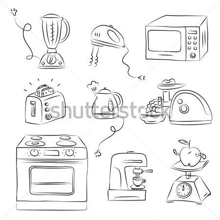 Cleaning Doodle Google Search Aparatos Tecnologicos Dibujos