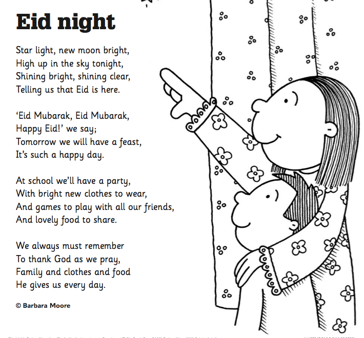 free printable eid poem and coloring sheet from scholastic at httpimages