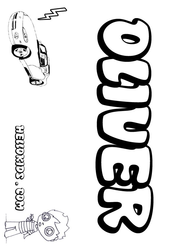 Kids Name Coloring Pages Oliver Boy Name To Color Name Coloring Pages Coloring Pages Kid Names