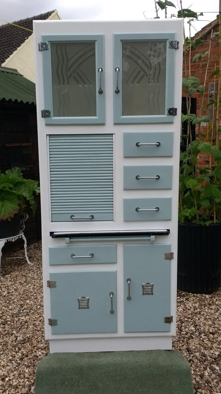 Restored vintage s kitchen cabinet larder pantry kitchenette