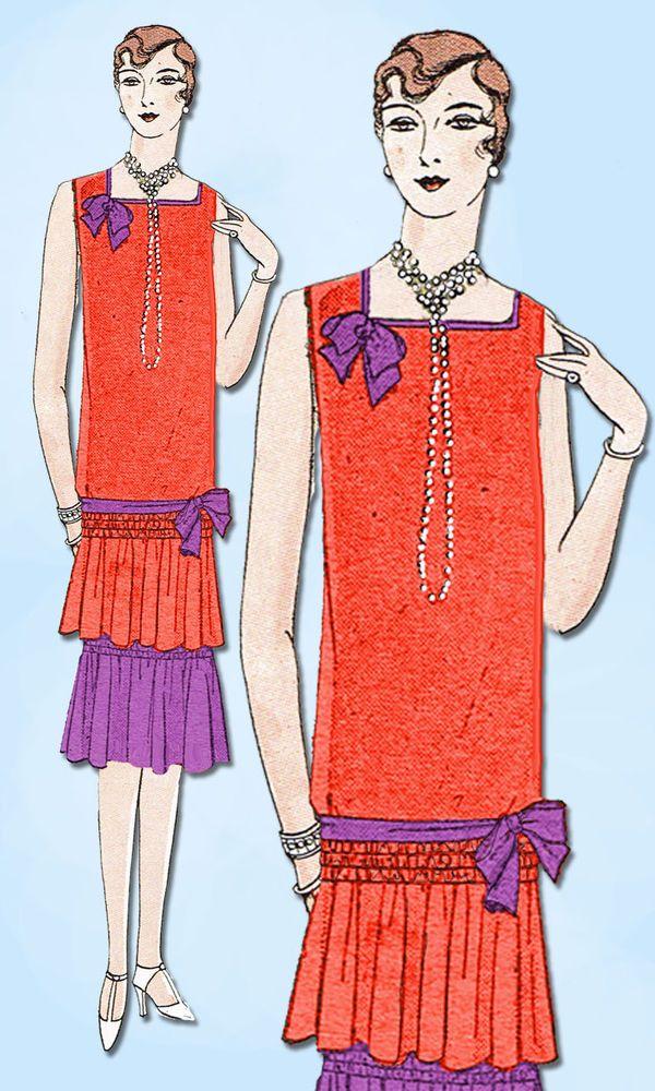1920s VTG Ladies Home Journal Sewing Pattern 5392 FF Flapper Cocktail Dress 34 B #LadiesHomeJournal #FlapperFrock