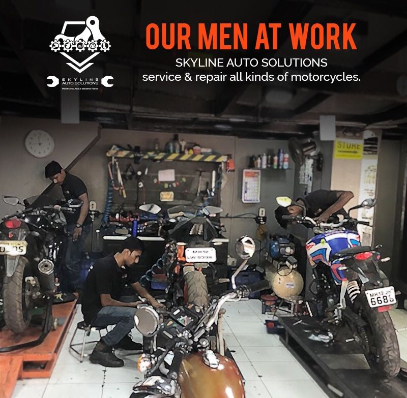 Shoutout to our Skyline Stars, who are always at work to boost your motorcycle's health. It's because of them that we've managed to deliver such awesome services & maintenance. #saturdayshoutout #workmotivation #photooftheday #Skyline #SkylineAuto #SkylineAutoSolutions #bikeservicing #motorbikeservicing #servicecentre #bikeshop #loveforride #loveforbike #bikeporn #bikersfamily #throttlesociety #bikerslifestyle #pune #punecity #karveroad