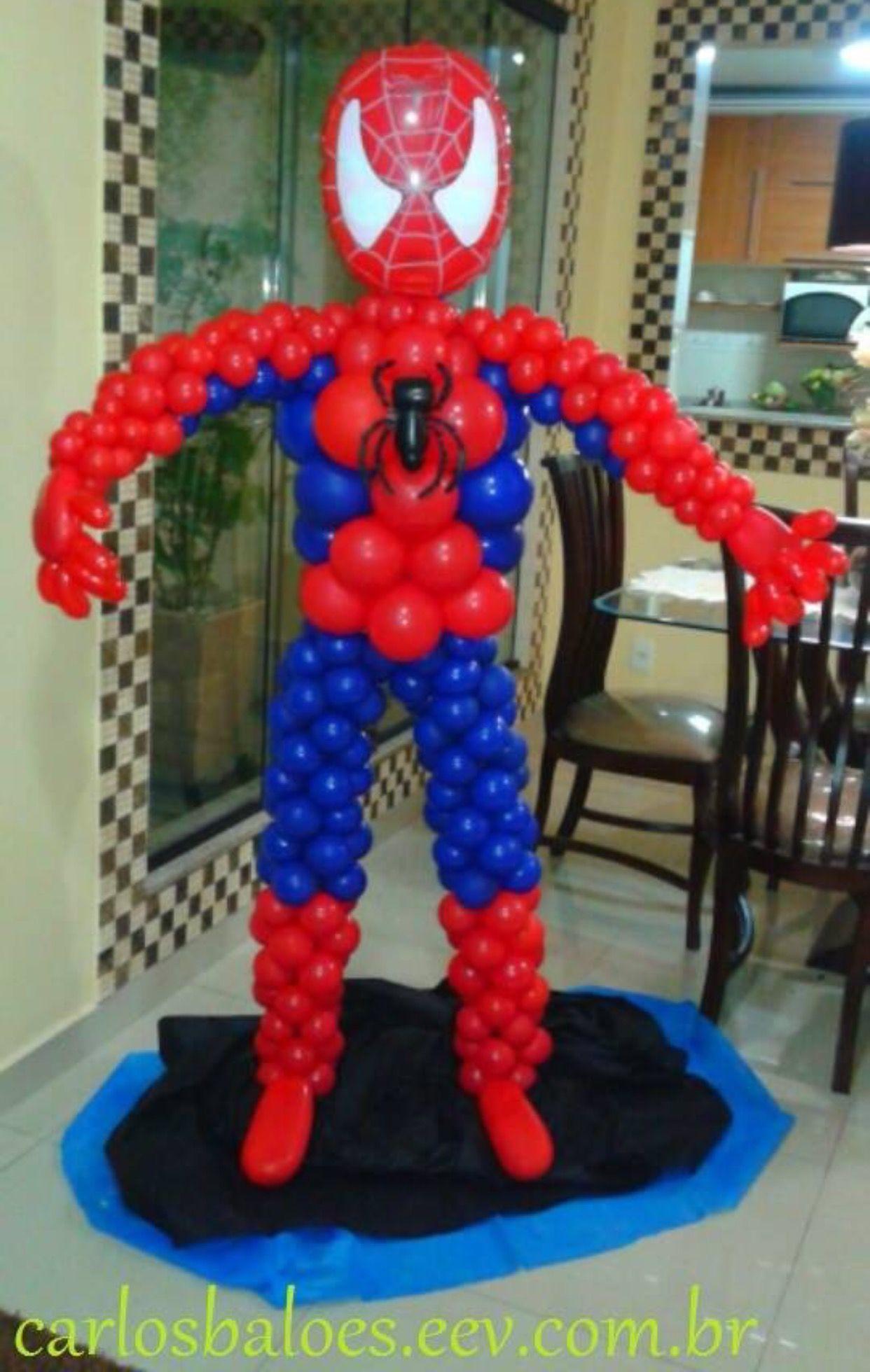 Pin de lourdes santos en homem aranha pinterest globo for Decoracion de globos para hombres
