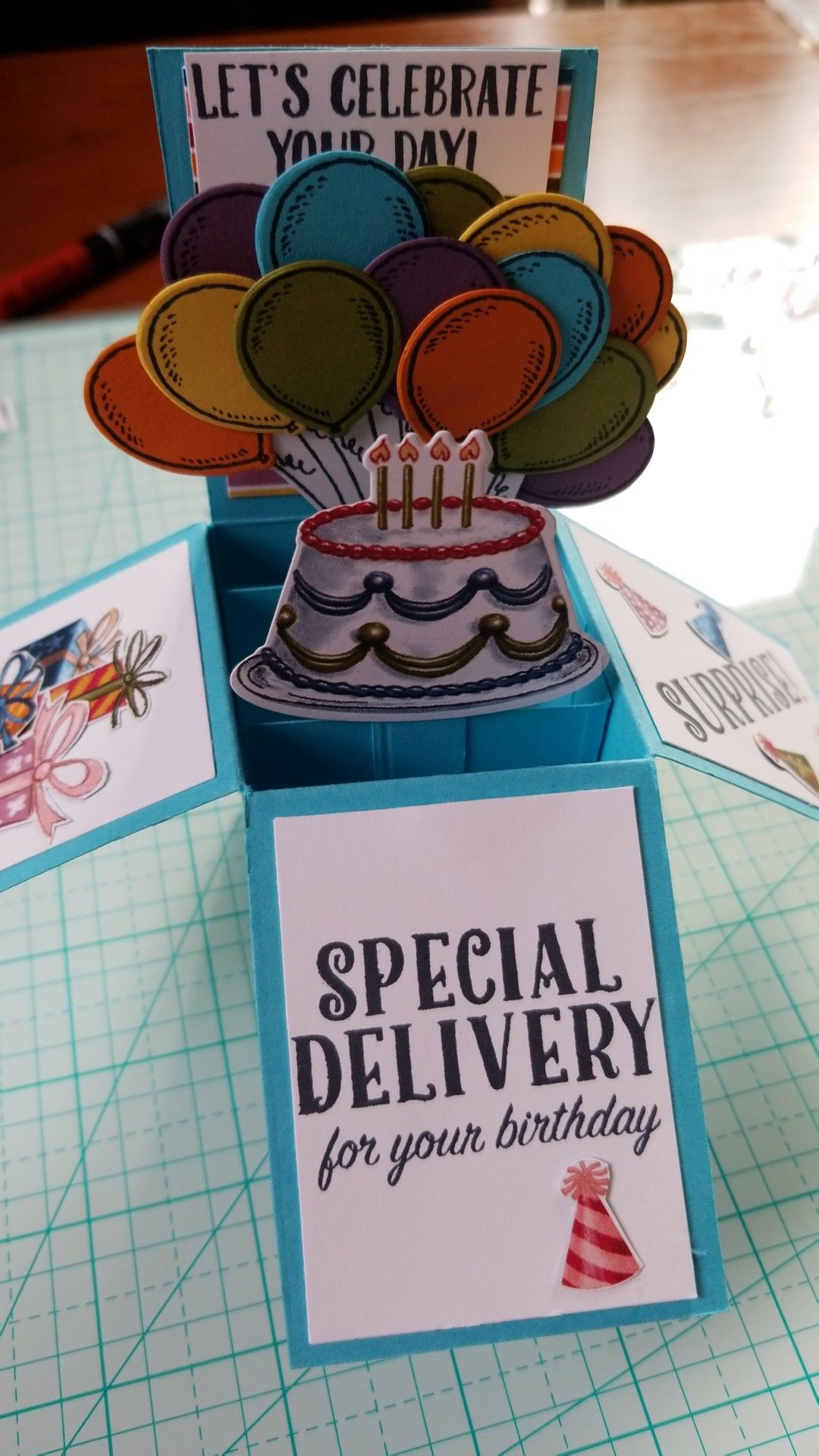Pop Up Birthday Card Using The Delivery Bundle