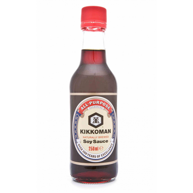 B0018 kikkoman naturally brewed soy sauce 250ml kikkoman