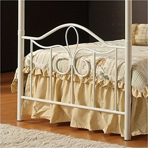Hillsdale Furniture 1354BFPR Westfield Canopy Bed Set with Rails