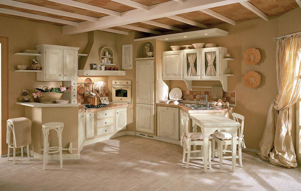 cucina muratura shabby chic - Cerca con Google | Country Kuchyne ...