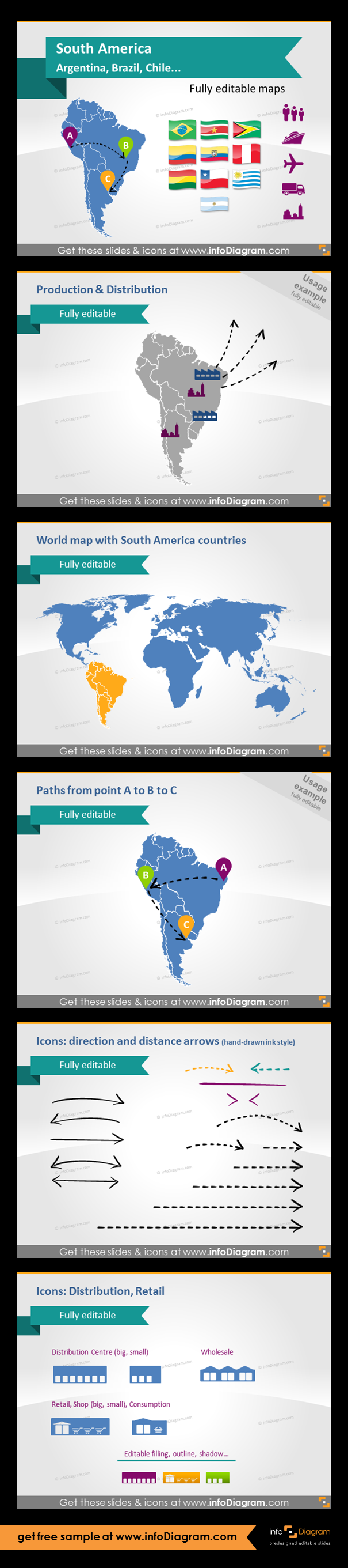 South america countries editable powerpoint maps localization and south america countries editable powerpoint maps localization and transport icons country statistics fully editable maps icons arrows gumiabroncs Images