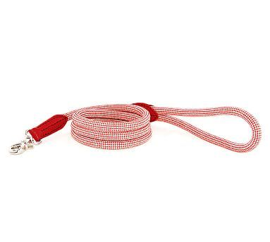 Harry Barker Rope Leash, Red/Tan