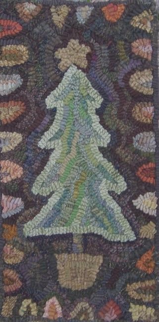 Primitive Christmas Tree By Maria At Star Rug Company