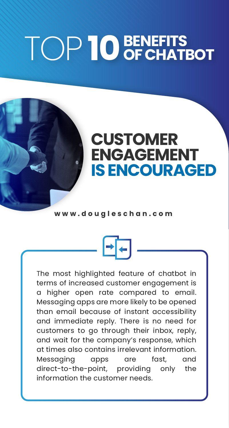 Top 10 Benefits of Chatbot Chatbot, Customer engagement