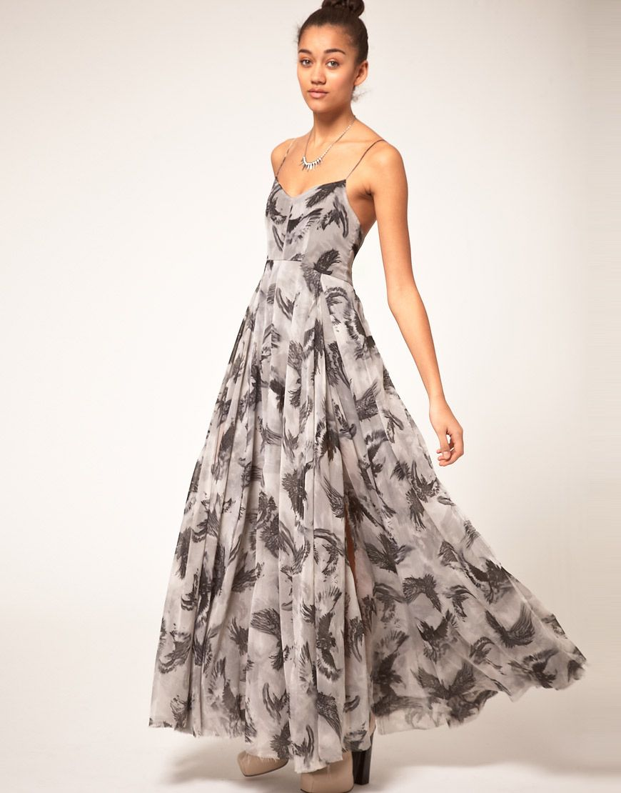 1725dea2874 Religion Storming Raven Maxi Dress