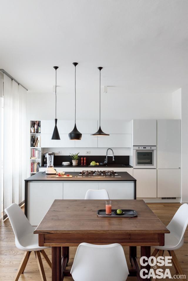 Open space per soggiorno cucina e zona pranzo nel 2019 ristrutturazioni e progetti kitchen - Open space cucina soggiorno moderno ...