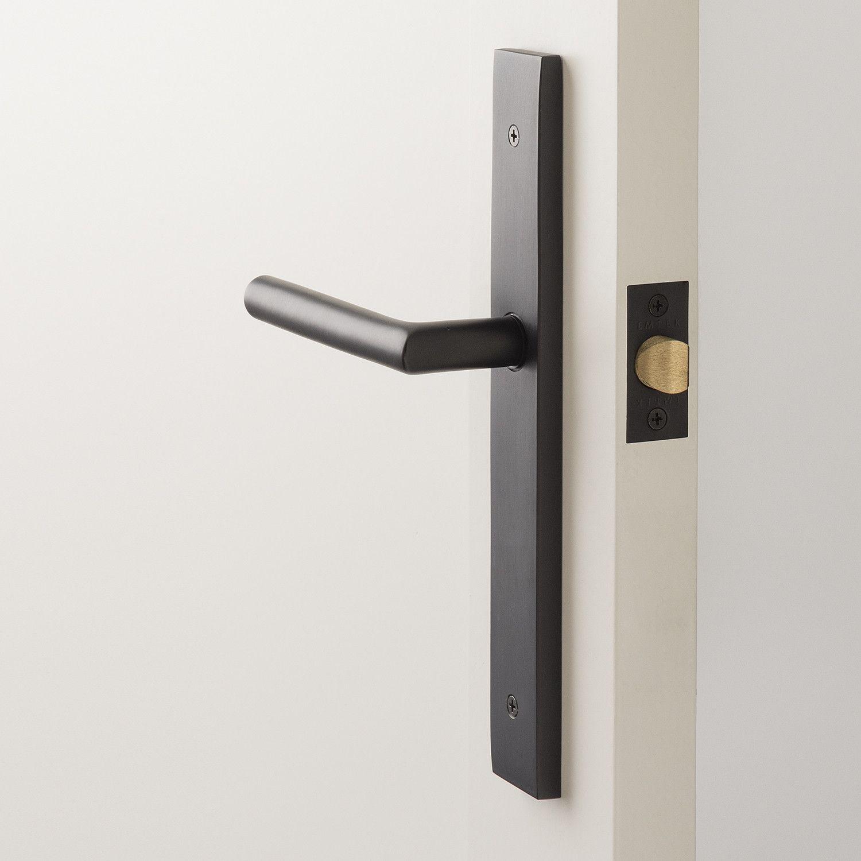 Rome Tall Door Set With Otto Lever Flat Black Black Door Handles Door Sets Entry Doors With Glass