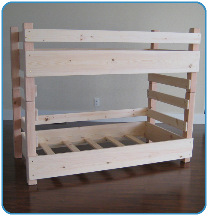 Best Kids Toddler Bunk Bed Plans Regular Fits A Crib Size 400 x 300