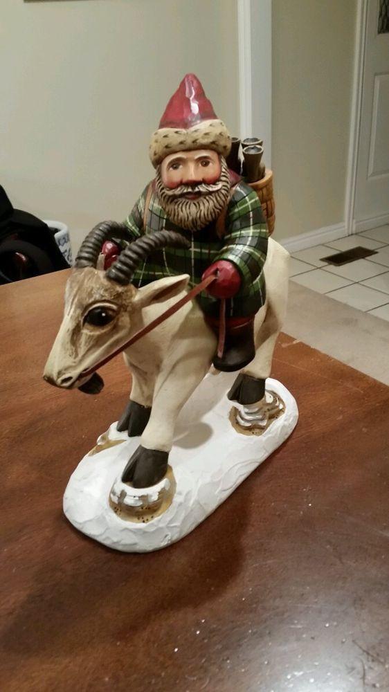 Leo Smith Santa Clause Christmas Folk Art Collection 92 500 Santa Claus Santa Art