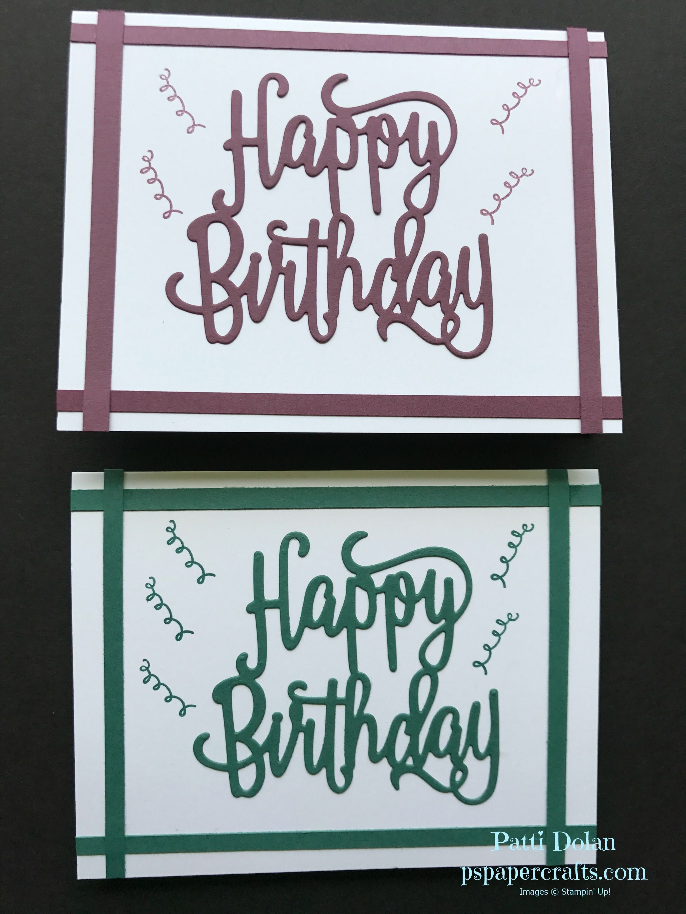 Easy DIY Stampin Up Masculine Birthday Card Using The Happy Thinlits And Gorgeous Stamp Set