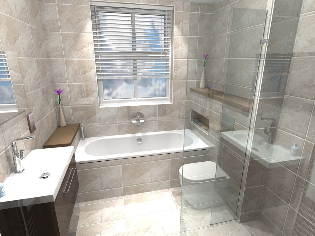 Fully Tiled Main Bathroom Design With Contemporary Shower In Unique Virtual Bathroom Design Decorating Inspiration