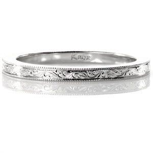 scroll engraved band knox jewelers minneapolis minnesota hand engraved wedding bands large - Engraved Wedding Rings