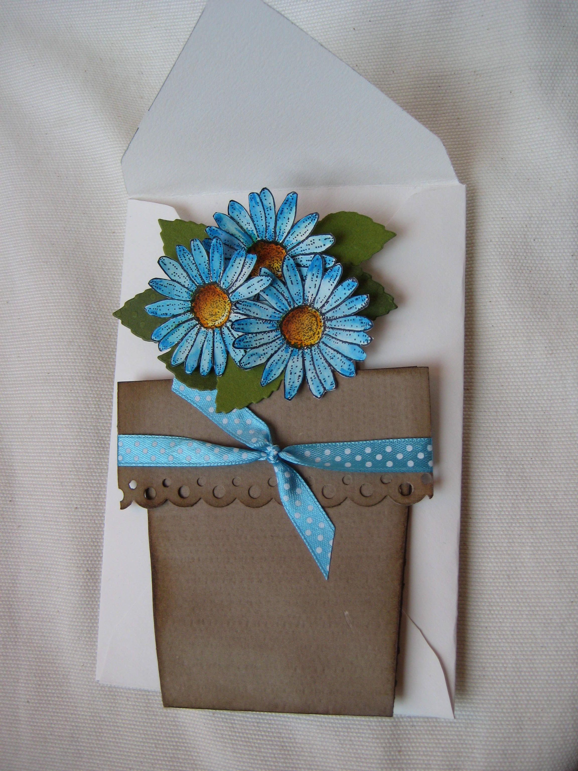 flower pot card Flower Pot Cards Pinterest