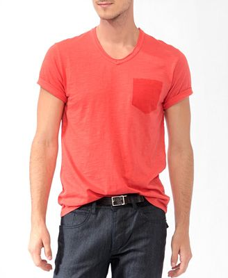 $13 bright red tee