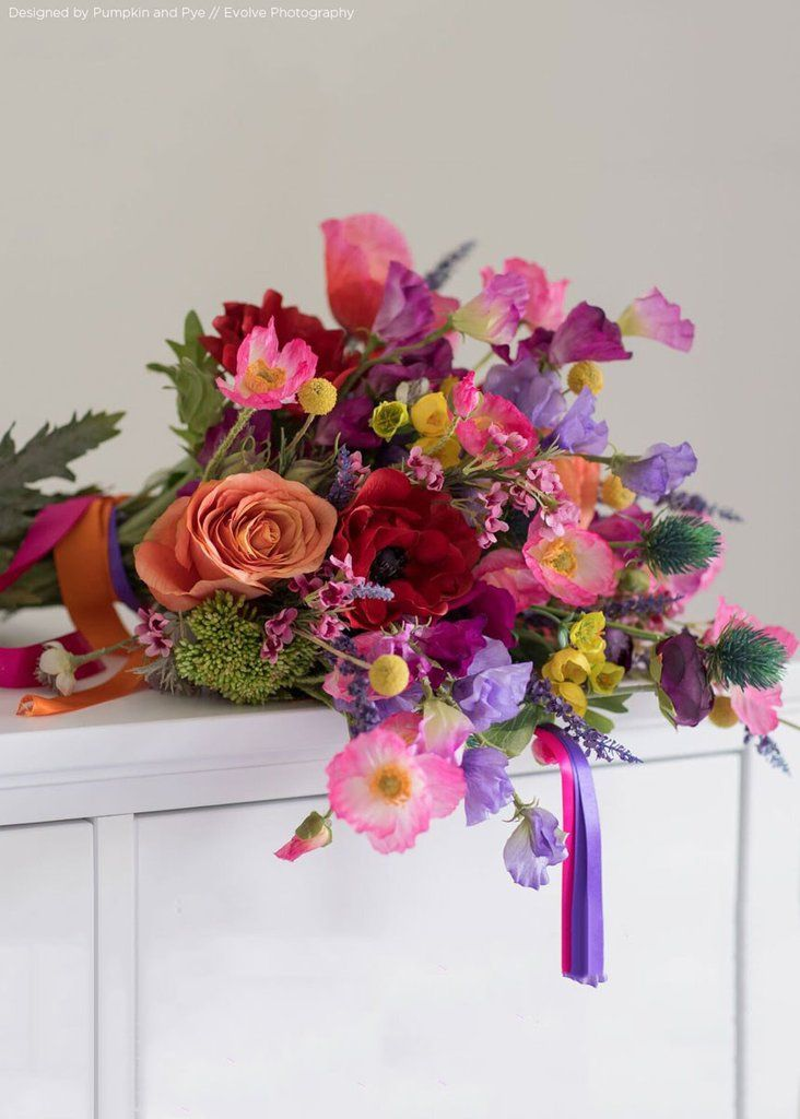Sweet pea silk flower spray in purple 22 silk flowers spring this bouquet tutorial is just what you need make your own wedding bouquet with silk flowers your bouquet will look fresh and will a mightylinksfo