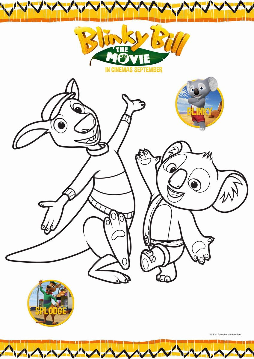 Pin By Lmi Kids On Blinky Bill Coloring Pages Print Pictures Bills