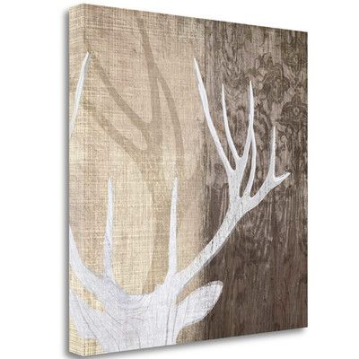 Tangletown Fine Art 'Deer Lodge II' by Tandi Venter Graphic Art on Wrapped Canvas