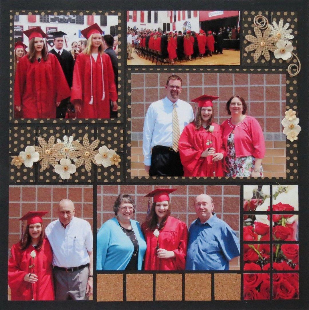 Graduation scrapbook ideas pinterest - Mm Otw Bonus Page Same Pattern Slightly Altered Graduation Scrapbook Page Ideas