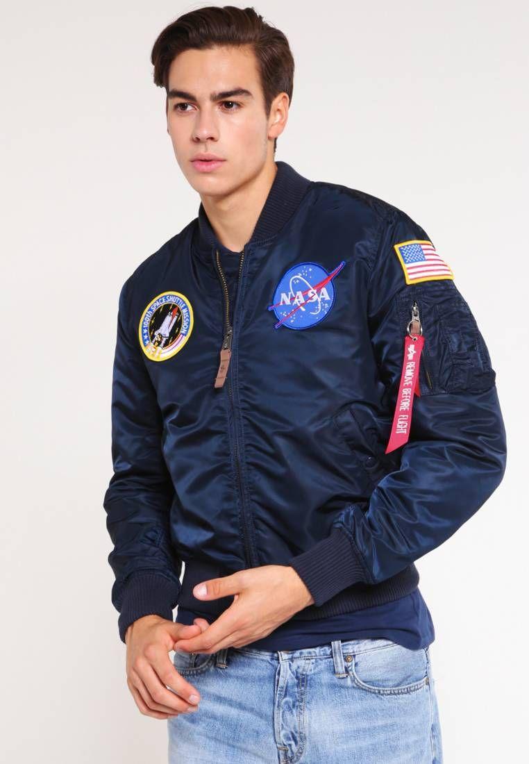 online wide selection of designs fast color NASA - Bomber Jacket - replica blue @ Zalando.co.uk 🛒 in ...