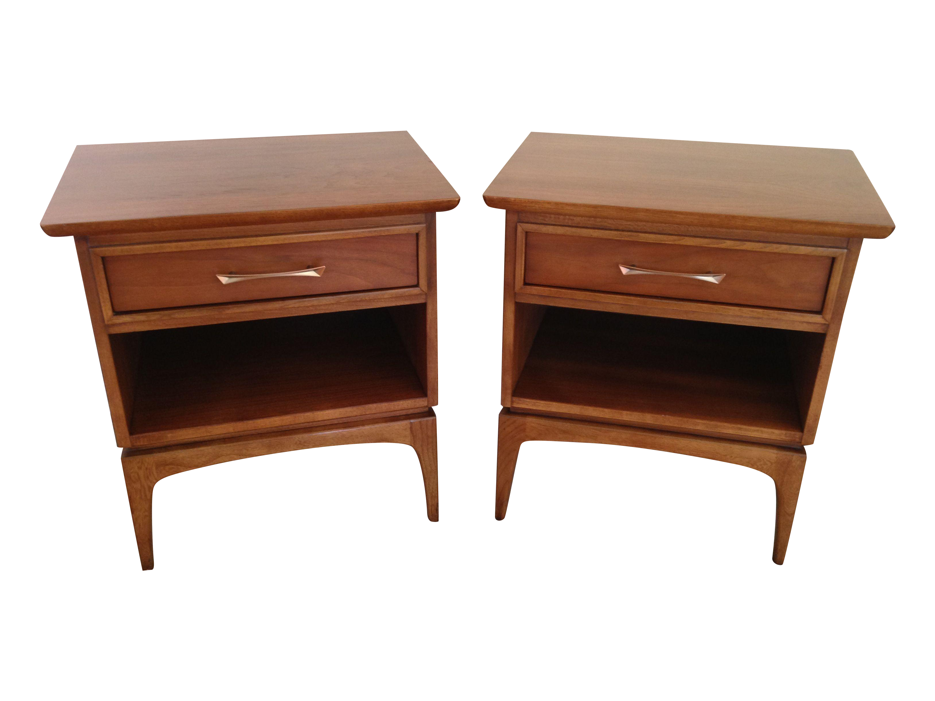 Kent Coffey Mid Century Modern Nightstands  Pair On Chairishcom