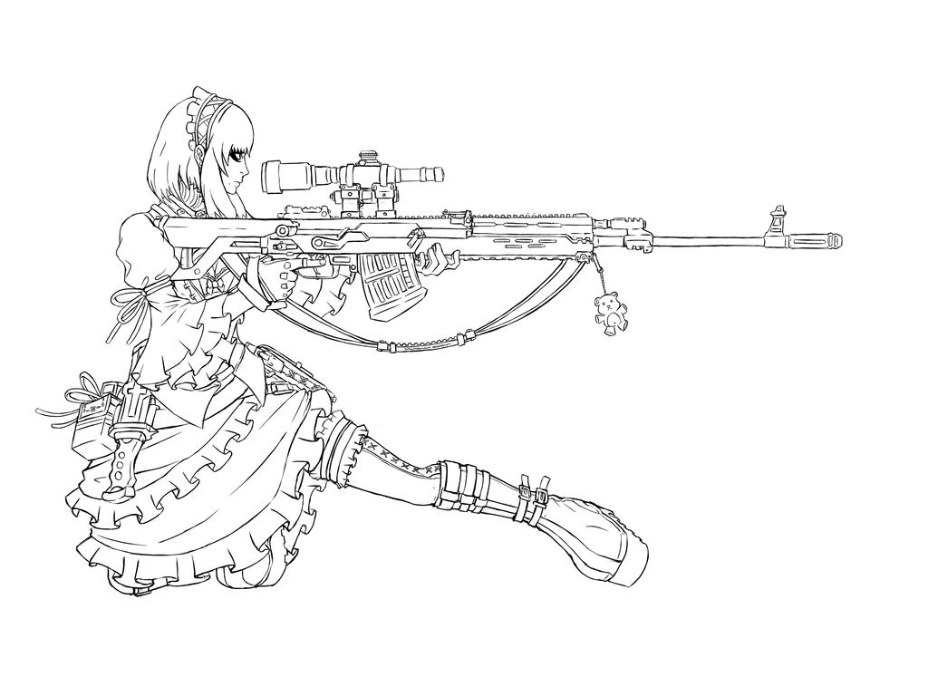 Coloring pages guns - I M A Procrastination Expert By Tntno27okanekami On Deviantart