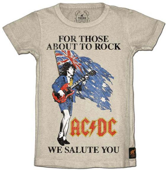 Limited edition acdc for those about to rock kids youth tee generation t is a fun unique clothing boutique located in ambler pa on the world wide web that specializes in hard to find retro style tee shirts and urtaz Image collections